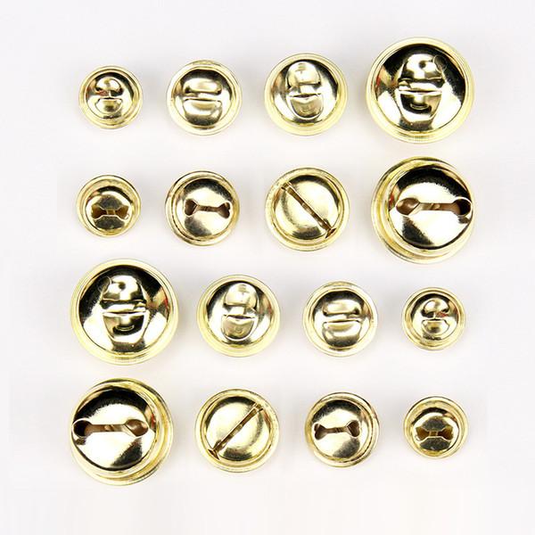 DoreenBeads 5PCs 16mm 18mm 20mm 26mm High Quality plating Open metal yellow bell pet collar decorative Bells Pendants Charms