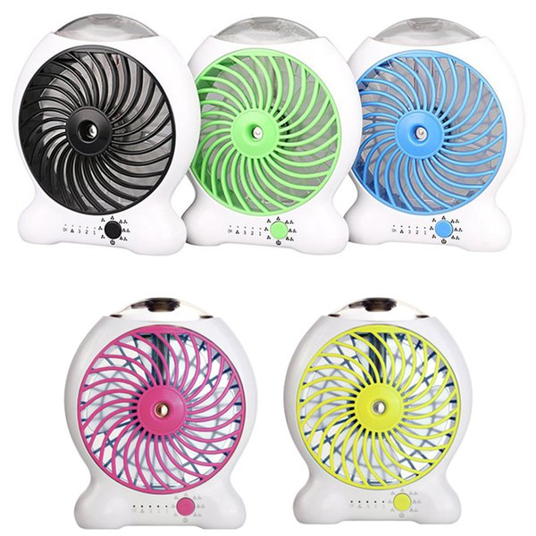 2018 Mini Water Mist Cooling Fan With 1200mAh Rechargeable 18650 Battery 25ml Water Tank Portable USB Spray Fan 3 Level Strong Wind Power