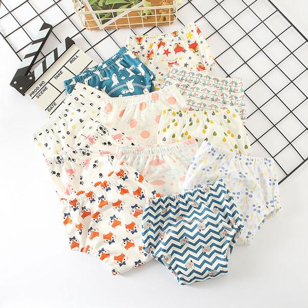 6 couches bébé couches réutilisables épaissir bébé pantalons de formation couvre-couche culottes infantile lavables Bloomers bambin shorts