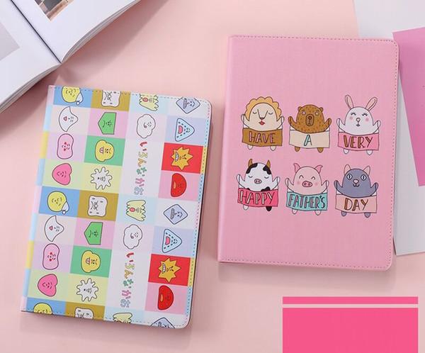 Nueva llegada de dibujos animados lindo mascotas pad caso para ipad mini 2 3 4 soporte de cuero case 9.7 pulgadas iPad Pro Air 10.5 Pro 2 plegable cubierta completa
