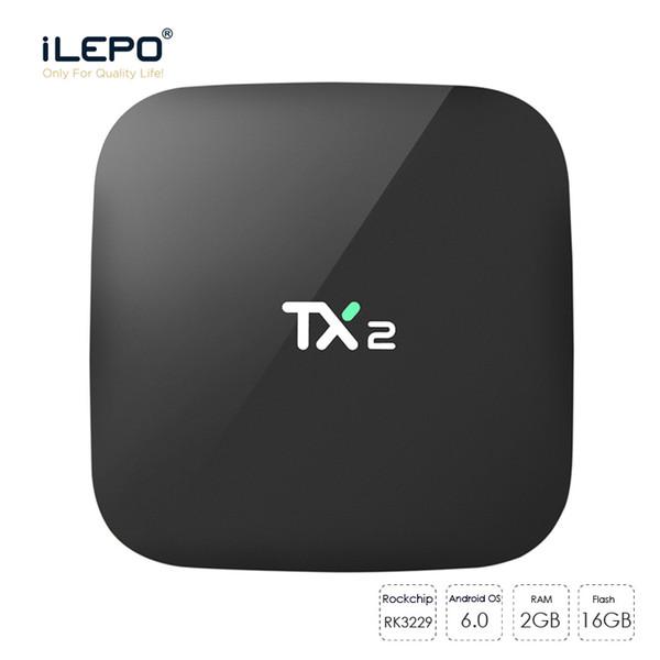 Mais barato 2 GB 16 GB TX2 android 6.0 caixa de tv Rockchip RK3229 quad core Player 16.1 caixas de mídia stremaing Netflix Youtube 4K