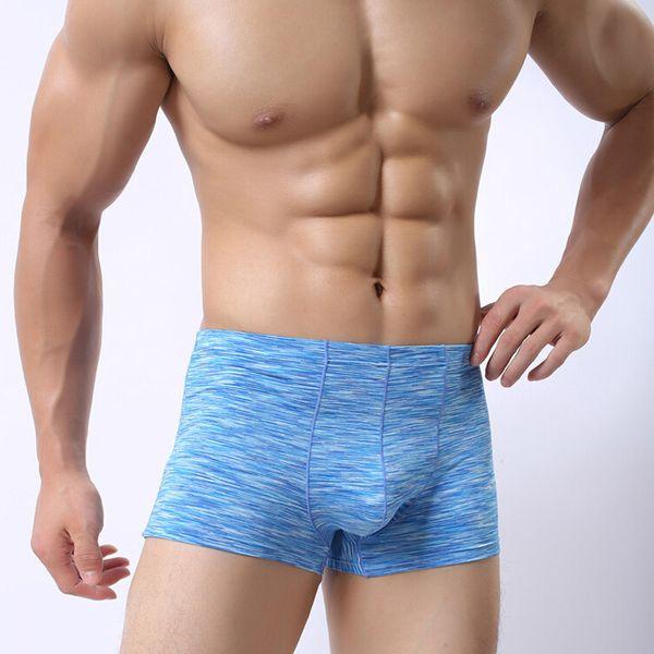 Men Sexy Boxer Underwear Mens Fashion Underpants Shorts Men's Ice Silk Boxers Underwear Calzoncillos Hombre Cuecas Male Panties