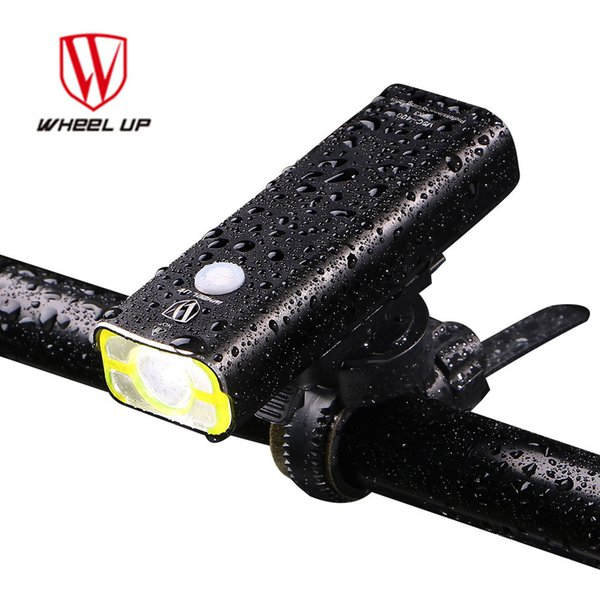 WHEEL UP USB Rechargeable Bike Front Handlebar Cycling Led Light with Battery Flashlight Torch Headlight Bicycle Accessories Y1892709