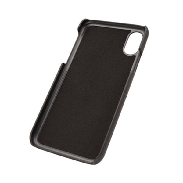 The new type for iphone X simple style with multi-function insert card cover type imitation leather case