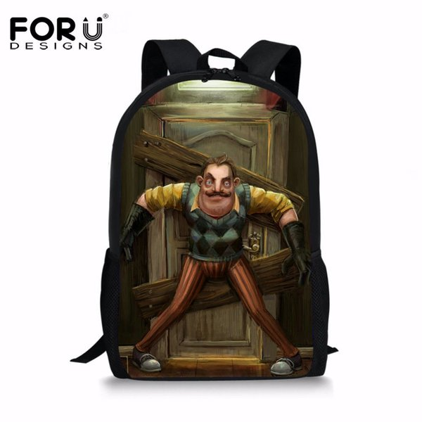 6c44ae8858 FORUDESIGNS Hot Game Teenagers Baackpack Hello Neighbor Printing Softback School  Bag for Children Boys Casual Daypack Book Bag