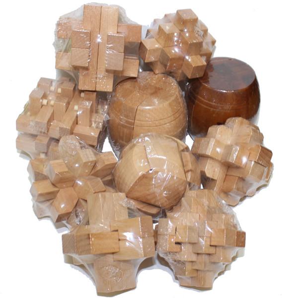 3D Puzzle di legno di lusso rompicapo Kong Ming Luban Lock Formazione Intelligenza Puzzle Viaggi Scuola di casa Jigsaw Giocattoli per bambini Adolescenti Adulti