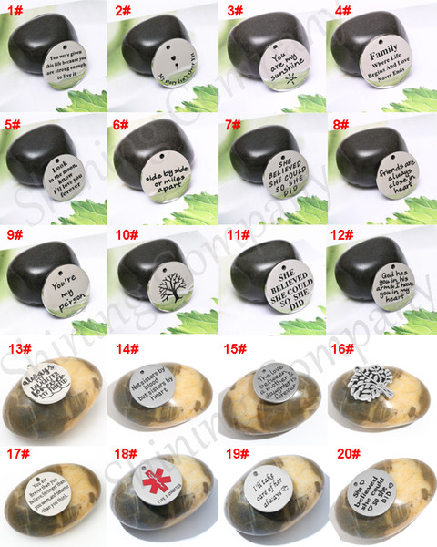 20 конструкций надписи браслеты подвески кулон Дерево Жизни ожерелье письмо Шарм для DIY ювелирных изделий