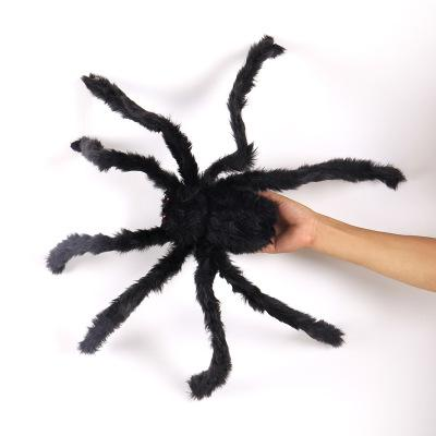 big plush spider halloween decoration Black Spider black and multicolour style for party Halloween Prop Horror Tricky Toys