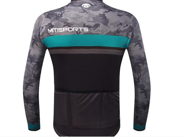 Jérsei de manga comprida novo estilo de secagem rápida respirável equipamentos esportivos de bicicleta