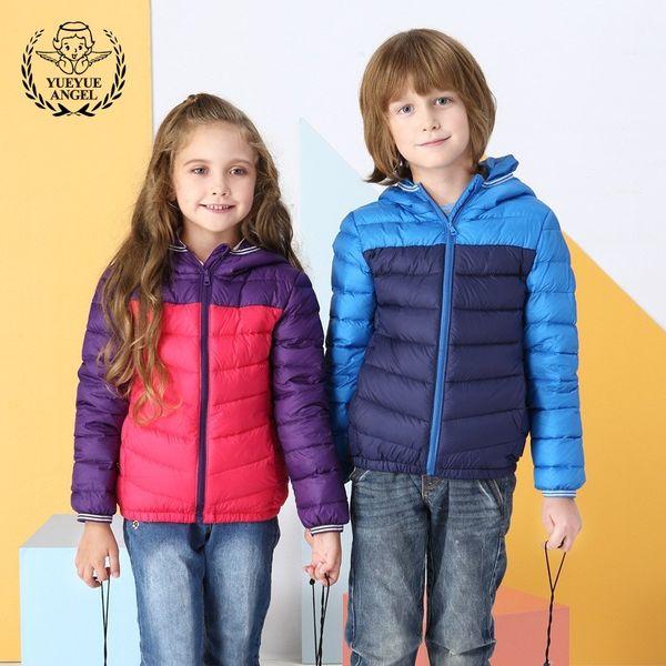 8b353afbc Childrens Lightweight Down Jacket 2018 Winter Overalls For Girls ...