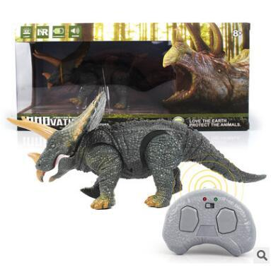 Remote Control Dinosaur Toy Voice Flickering Eyes Moving Mouth Wireless Pet Electronic Toys Novelty Items CCA10540 10pcs