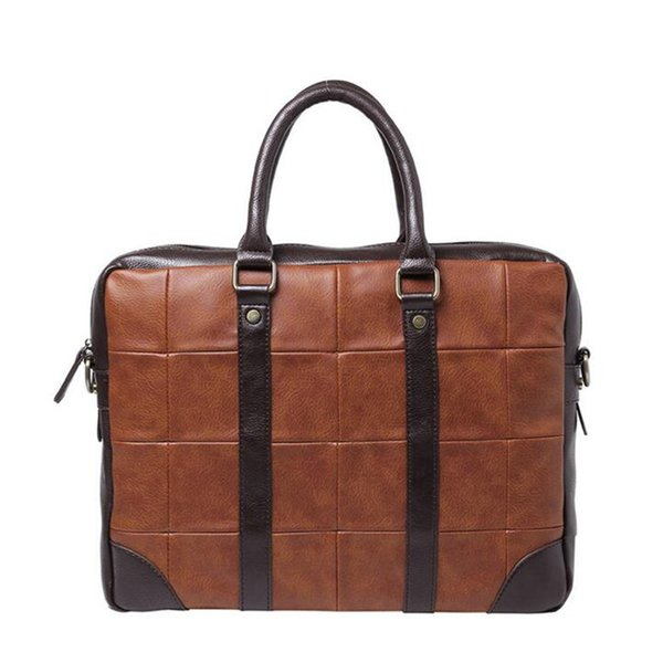 2017 High Quality Leather Brand Mens Briefcase Classic Business Leather Men Handbags maletin cuero male Laptop Bags