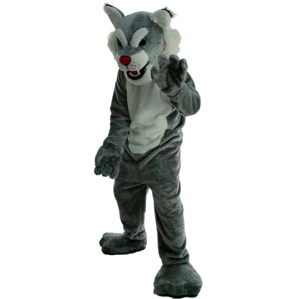 Tiger Wildcat Mascot Costumes Cartoon Character Adult Sz 100% Real Picture 0056