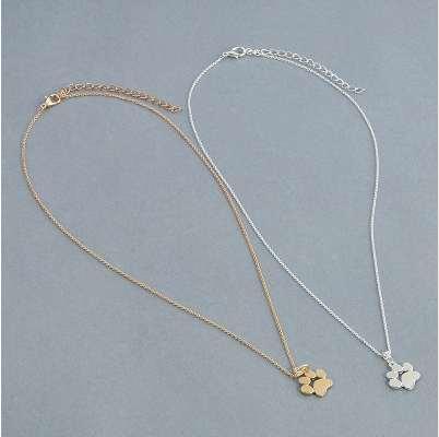 Mode Mignon Animaux Chiens Empreintes Paw Chaîne Pendentif Collier Colliers Pendentifs Bijoux pour Femmes Chandail collier
