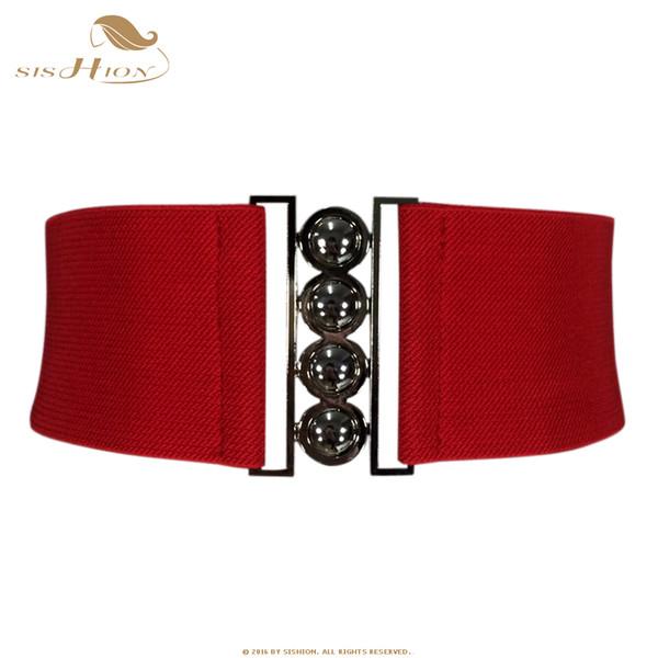 SISHION Women Brief Belt Female Wide Belt Decoration Elastic Fashion Cummerbund Strap all-match Lady's Waist Belts for Women 003