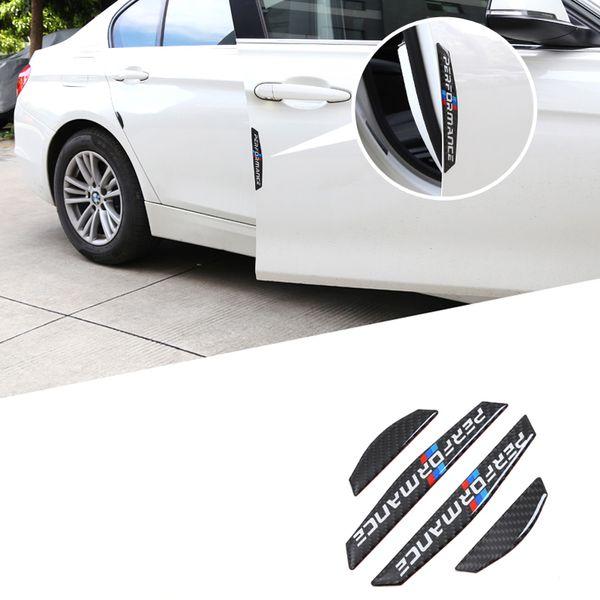 4 PCS protetor de porta Do Carro lado da porta de fibra de Carbono adesivos de carro Tiras Anti-colisão Adesivo para BMW E90 E46 F30 F10 X1 X3 X5 X6 GT Z4 F15 F16