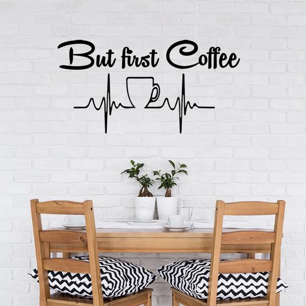 Decorazioni Da Muro.Acquista Decalcomania Da Muro Tazza Di Caffe Adesivo Da Parete Design Moderno Cafe Cucina Vinile Decorazioni La Casa Murale Citazione Poster A 17 09