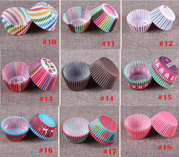 Environnment Colorful Cake Paper Foil Resistance Temperature Chocolate Baking Paper Cupcake Independent Packaging 100 PCS/Lot More Style