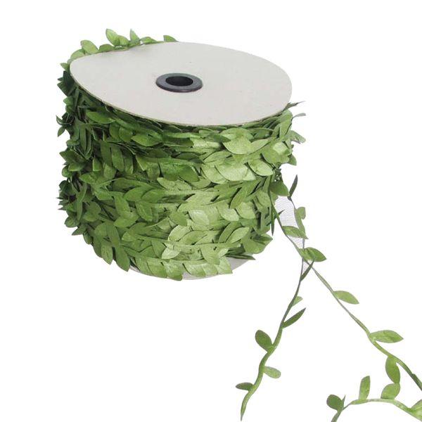 Soie Nature Vert Feuille Artificielle Feuilles De Vigne De Mariage Décoration Feuillage Scrapbooking Artisanat Couronne Faux Fleurs 10 Mètre