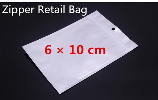6*10cm Clear & White Pearl Gift Jewelry Candy Plastic Packaging Shopping Bag Zip Lock PVC Poly PP OPP Zipper Retail Packing Bag