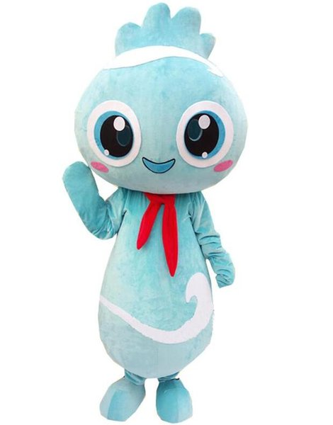 2018 High quality hot Blue Cute Chicken Mascot Costume Fancy Party Dress Halloween Costumes Adult Size