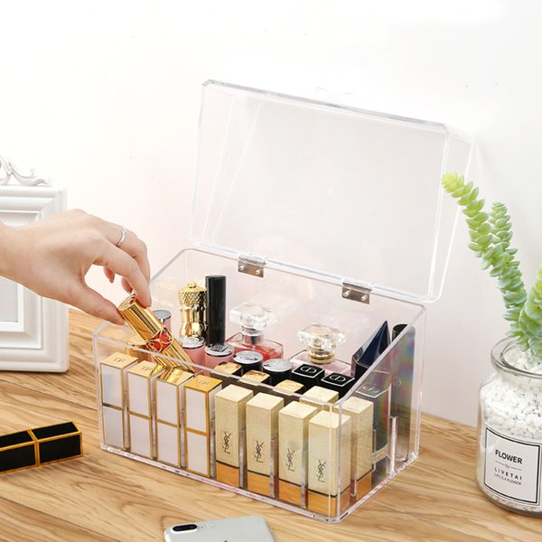 2019 Clear Acrylic Makeup Organizer Storage Box With Cover Lipstick Holder  Box Cosmetic Jewelry Display Stand Makeup Holder Dust Free From Igarden001,