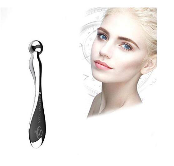 24K Eye Massager Wand rughe della pelle Rimosso massaggio dell'attrezzo Eye Cream Massaggi Sticks Argento Anti rughe degli occhi massaggio dell'attrezzo