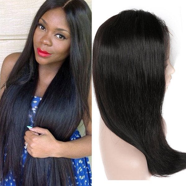 Human Hair Lace Front Wigs For Women Brazilian Virgin Hair Straight Wig With Baby Hair Natural Hairline Natural Color 8A Grade Lace Wig