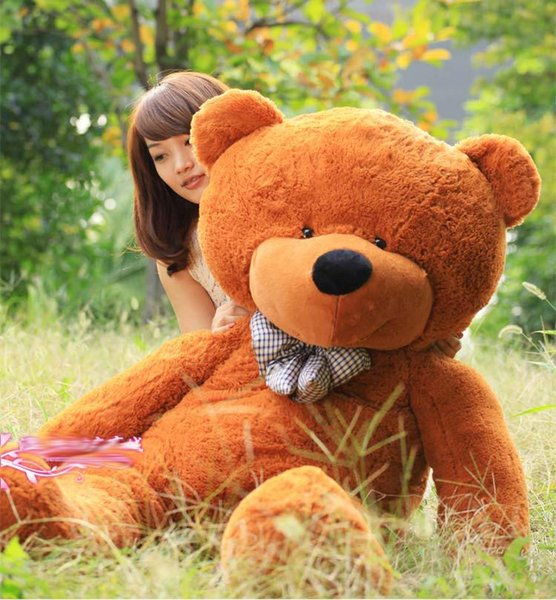 best shipping 200CM HOT NEW GIANT BIG PLUSH SLEEPY TEDDY BEAR HUGE SOFT Stuffed Animals & Plush Toys