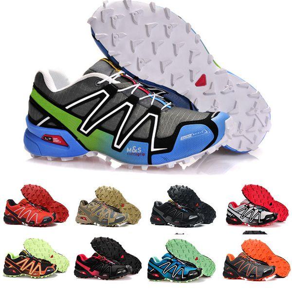 Großhandel Salomon Speedcross 3 Marke Heißer Verkauf Solomons Speedcross 3 CS Trail Freizeitschuhe Frauen Leichte Turnschuhe Navy Solomon III Zapatos