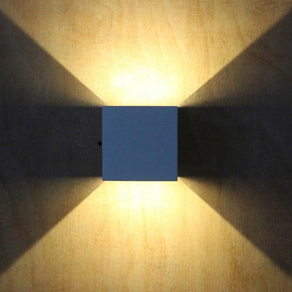 Acheter Etanche Cube Cob Led Lampe Murale Moderne A La Maison Eclairage Decoration Applique Murale Exterieure En Aluminium 7w Ac 220v Lemonbest De