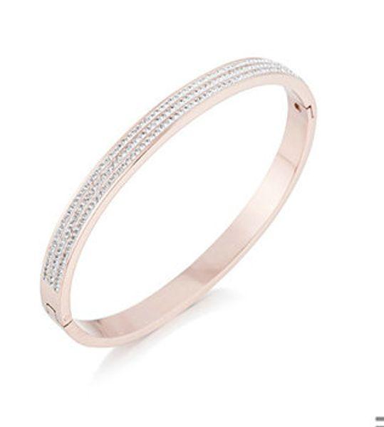 Clsssic Steel titanium Jewelry Bangle For Women Men rose Gold plated Wristhand Belt Bangles Cuff Buckle love Bracelets