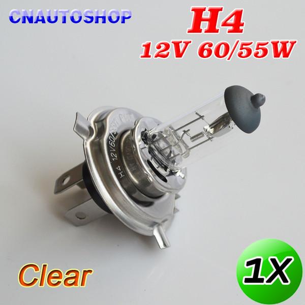 car headlight bulbs Hippcron Clear H4 12V 60/55W Halogen Lamp 3800K Glass Stainless Steel Base Car Headlight Bulb