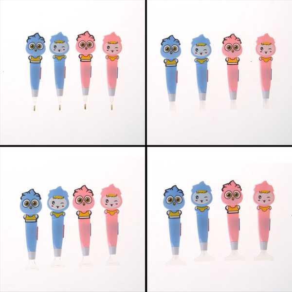 4Pcs/Set 5D Diamond Painting Cross Stitch Embroidery Point Drill Pen with Led Light Tool Mosaic Diamond Embroidery Gift