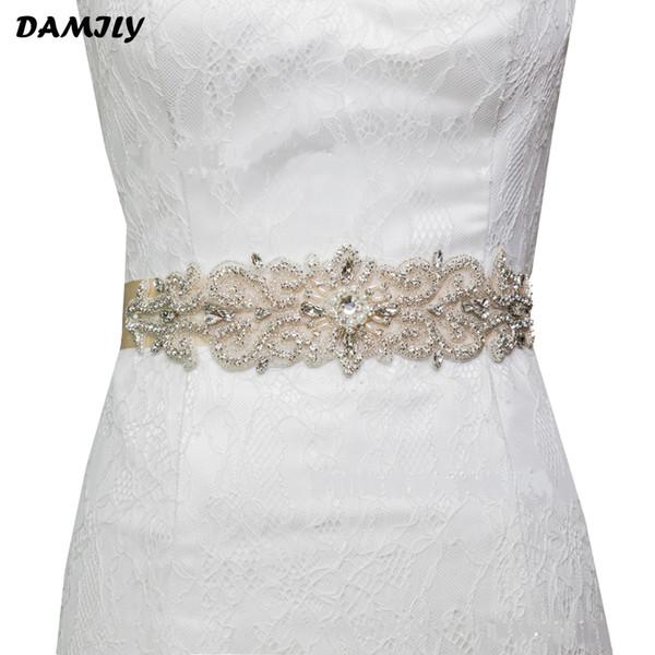 Brand Women Weddins Handmade Rhinestone Bridal Sash Party Gown Dress Belt for Bride Bridesmaids Luxury Wedding Accessories