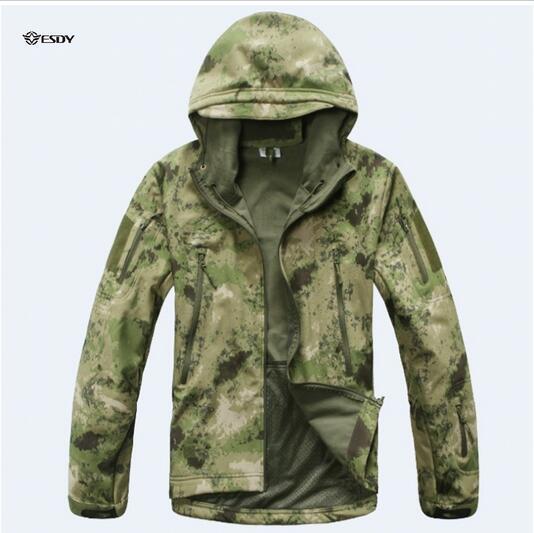 TAD V4.0 Army Camouflage Coat Military Tactical Jacket Men Soft Shell Waterproof Windproof Jacket Coat Plus Size 3XL Raincoat