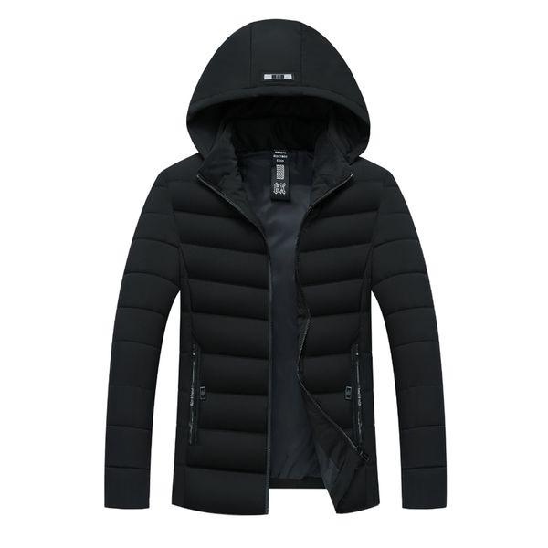 2018 Mens Winter Jackets Chest Exquisite Pocket Simple Hem Practical Waterproof Zipper High Quality Parka Plus Size