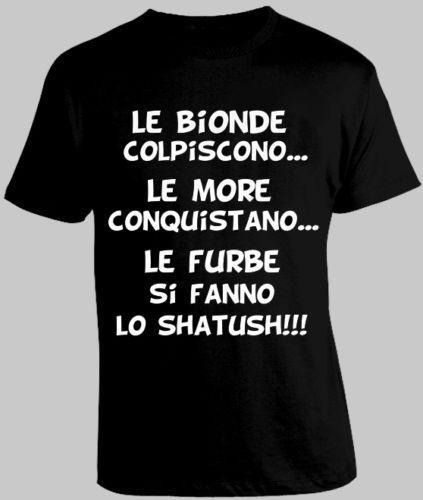 Frasi Divertenti Bionde Mais Camiseta Shatush Furbe Maglia Maglietta S M L XL XXL
