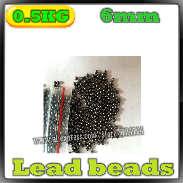best selling 0.5kg 6mm Diameter Slingshot Solid Lead Balls Shooting Hunting Bow Arrow Compound Bow Catapult Hitting Ammo