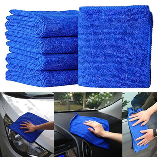 10pcs Microfiber Wash Clean Towels Cleaning Cloths Blue Car Furniture Square Home Bathroom Kitchen Towels Auto CareCleaning Dust Towel
