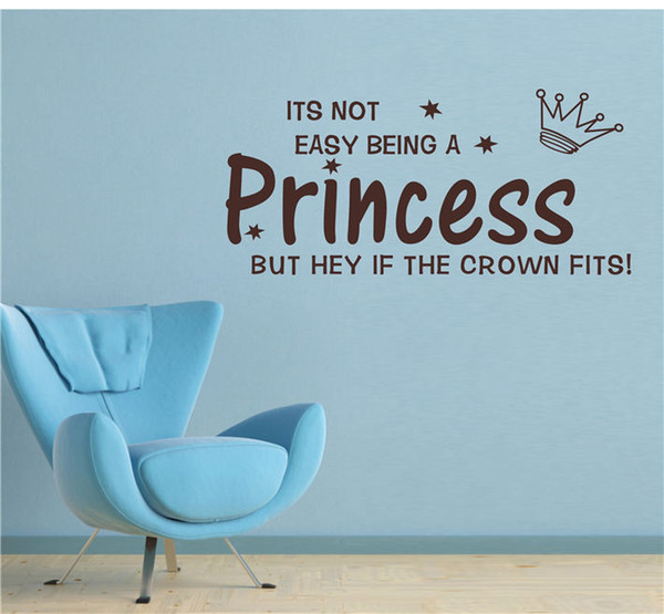 English letters Princess wall stickers for living room baby room bedroom home wall decoration