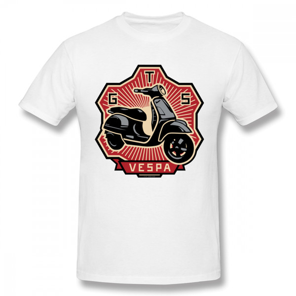 Custom Vespa Gts Scooter T Shirt Organnic Algodón Para Hombre Vintage Calidad Algodón Camiseta Tallas grandes