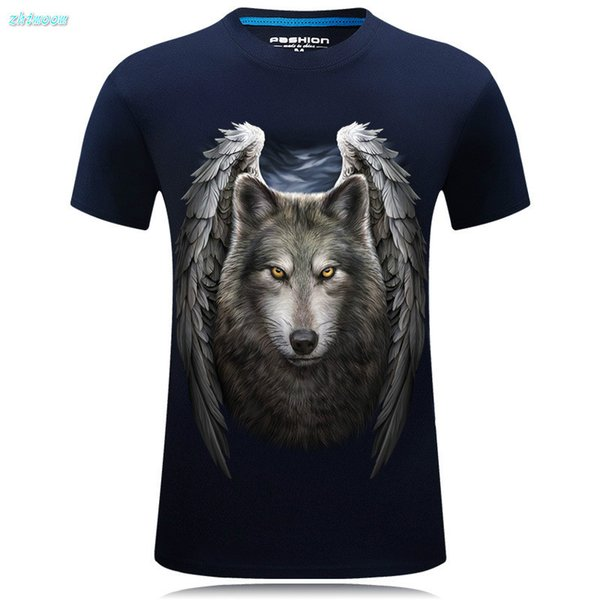 Cool Boys T Shirts For Kids Short Sleeve Children Men Tshirt 3d Print Wolf Casual Summer Big Size Cotton Tops Tees