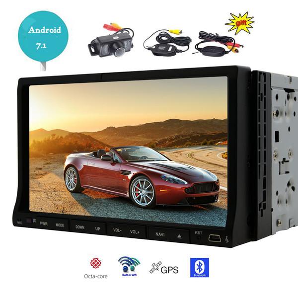 Wireless Back Camera + Android 7.1 os Car dvd player 2GB RAM+32GB ROM WiFi Bluetooth FM/AM Radio GPS Navigator Video Audio player
