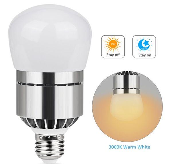 E26/E27 Light Sensor Dusk to Dawn LED Lights Bulb 12W 1200LM Automatic on/off Sensor Light Indoor Outdoor Security Bulb LLFA