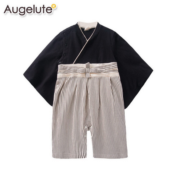 2016 Spring Summer Newborn baby rompers fashion cute Japanese kimono long sleeve baby costume clothes 3M -2T