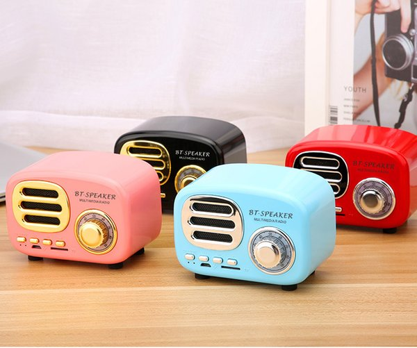 BT02 Retro New Bluetooth Speakers Old Style Creative Gifts Wireless Lovely Radio Subwoofer Card Phone Audio
