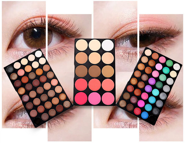 best selling Color eye shadow multi-color makeup eye shadow disk three - layer combination suit European and American fashion.
