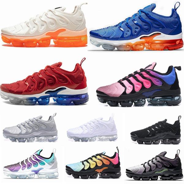 2019 TN Artı Oyunu Kraliyet turuncu ABD Mandalina nane Üzüm Volt Hiper Menekşe eğitmenler Spor Sneaker Erkek kadın Tasarımcı koşu ayakkabı