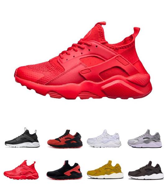 Cheap On Sale Huarache Ultra Run Shoes Triple White Black Men Women Running Shoes Sports Training Factory Store Shoe Jogging Shoes